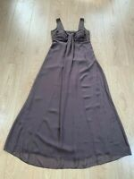 M&S Autograph Womens Brown UK Size 10 Maxi Dress Beaded strap detail