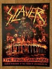 Slayer Los Angeles Tour Poster 11/29+30/2019 Limited Rare Numbered SOLD OUT!