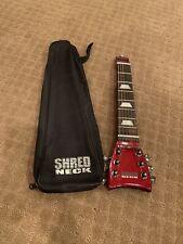 Shredneck Diamond Steel String Practice Guitar w/Bag Sparkle Red