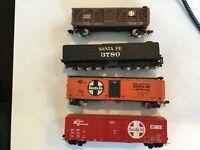 Vintage N Scale Model Railroad Boxcar Lot Santa Fe General Lot of 4
