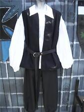 Mens Pirate Renaissance Peasant Costume Shirt Vest Pants 3 Piece - XL