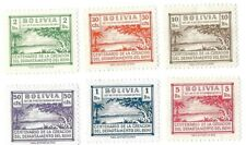 BOLVIA POSTAL TAX  SET OF 6 DIFFERENT SCENIC DESGINS ISSUED IN 1946