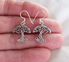 Sterling Silver 20mm tree of life dangle earrings #9734