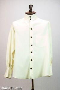 Steampunk Victorian 18th-19th Century Ecru Cotton/Linen Men's Costume Shirt