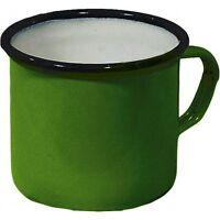 Original USSR Metal Mug, Soviet Russian Army Soldier Enameled Cup (Green)