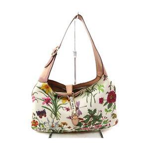 Gucci Shoulder Bag  Whites Canvas 1216881