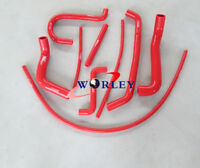RED silicone radiator hose FOR FORD FALCON AU1 AU2 AU 1/2 4.0L 6 CYL 1998-2002