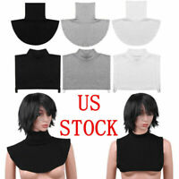 Women/'s Blouse Top Turtleneck Neck Cover Dickey Bib Half Choker False Collar AP