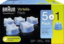 Braun CCR 5 + 1 Reinigungskartusche (6er Pack)  zu Braun Rasierer Series 3,5,7,9