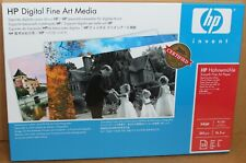 """HP Q8728A Hahnemuhle Smooth Fine Art Paper 13""""X19"""" 25 Sheets"""