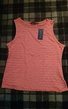bnwt broderie style coral top - size 16