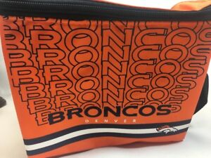 NFL Denver Broncos Forever Collectibles Lunch Bag Insulated Cooler NEW