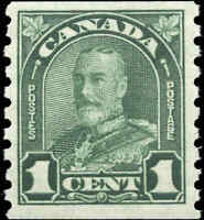 Canada Mint H 1931 1c F-VF Scott #179 King George V Arch Leaf Coil Stamp