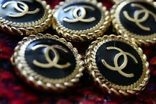 5 STAMPED Authentic Chanel Buttonslot for  5 pcs  black gold 💋😍😘👍