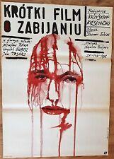 "Original Polish Poster, A Short Film About Killing,1988 Polish Pagowski 26x38"""