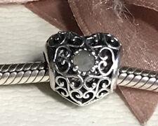 Genuine Pandora June Signature Heart Birthstone 791784MSG