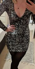 Black Sequin Dress Size 6