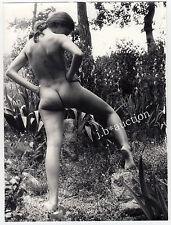 "Nudism NUDE WOMAN OUTDOOR / NACKTE FRAU IM GRÜNEN FKK * ""L"" Vintage 60s Photo #5"