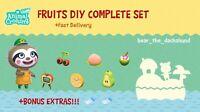 COMPLETE Fruit DIY Recipe Set: Animal Crossings New Horizons