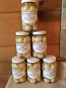 Onion Dill Pickled Quail Eggs 16 Oz