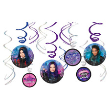 Disney Descendants 3 Swirl Party Decorations - 12 Pack