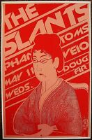THE SLANTS 2011 Gig POSTER Portland Oregon Concert