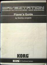 Korg Wavestation Synthesizer Original Player's Guide Owner's Manual Book, Japan