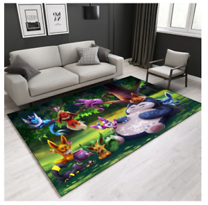 Pokemon snorlax 11/64 Pokemon carpet LUXURIOUS  CARPET RUG 100x160CM