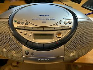 SONY Portable CD Radio Cassette Recorder CFD-S35CP