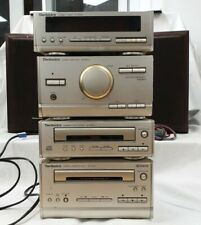 Vintage Technics HD-301 Stereo Cassette CD Amp Tuner With Speakers