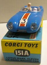Corgi Toys 151A Lotus Mark Eleven Le Mans Racing Car,        original
