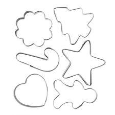 Ausstechformen Set 6 tlg. Weihnachten / Keks, Gebäck, Plätzchen Ausstecher