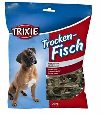 Dog Treat DRIED FISH Sprats Whitebait Food Feed 200g Pack Treat Treats