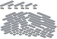 Lego - Bricksy's Bascis - Lightbluishgray - B50 - Platten neues hellgrau - schma