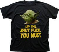 DJ YODA Jedi Master Shut Up funny rude STAR WARS inspired black t-shirt FN9422