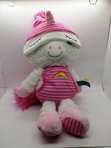 "Sleepy Caps Dan Dee Stuffed Plush Toy Unicorn 15"""