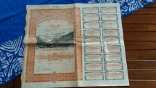 SUISSE SWITZERLAND ACTION 100 Fr AMIANTES DE POSCHIAVO 1906 titre bond-free port