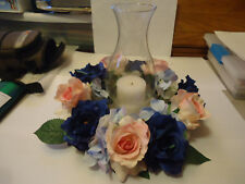 wedding centerpiece, wreath, candle or lantern floral wreath, floral wreath