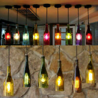 Loft Vintage Retro Glass Wine Bottle Ceiling Light Cafe Pendant Lamp
