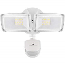 28W White 120V Outdoor LED Exterior Security Flood Light Motion Detector Fixture
