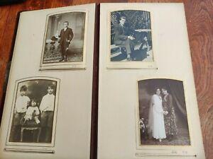 antik Jugendstil Fotoalbum Kabinett CdV KAB Fotos 100 Bilder antik Fotos