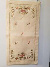 Nahide Kucuk Hand Embroidered Dresser Scarf - Istanbul, Turkey