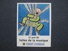 AUTOCOLLANT ANCIEN : CREDIT LYONNAIS , faites de la musique 1985