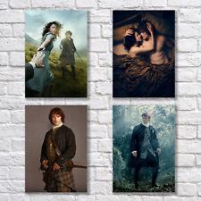 Sam Heughan Caitriona Balfe Poster A4 Outlander Jamie Claire Home Wall Decor