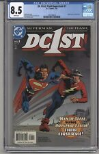 DC FIRST: FLASH/SUPERMAN #1 CGC 8.5 WPGS SUPERMAN & FLASH RACE GEOFF JOHNS STORY