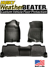 Husky 98261 Weatherbeater Front & Rear Floormats 07-14 Chevy Suburban Avalanche