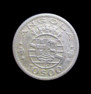 PORTUGUESE ANGOLA 10 ESCUDOS 1955 KM 73 #6060#