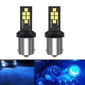 A1 AUTO 2x BA15s 1156 LED Bulbs Ice Blue High Bright SMD3030 Turn Signal Light