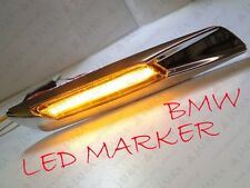 BMW 5er E60 E61 Seitenblinker  LED SIDE MARKER F10 DESIGN Klarglas Smoke