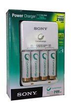 SONY CYCLE ENERGY Batterie Ricaricabili x 4 2100mAh Batteria AA Caricabatterie